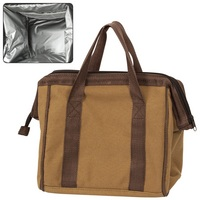 Brown Deluxe Wire Lunch Bag