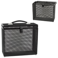 Black Mesh Portable File Box