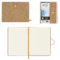 "6"" x 8"" Cork Notebook With Bungee"