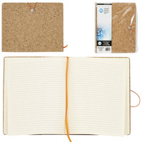 "8.5"" x 10.5"" Cork Notebook With Bungee"