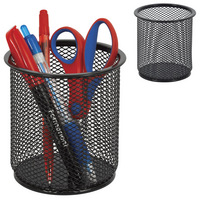 Black Mesh Large Pencil Cup